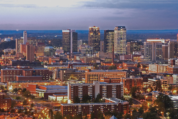Birmingham Skyline - Courtesy of the Birmingham, Ala. Convention and Visitors Bureau