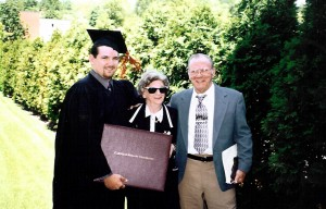 With my grandparents the day I graduated from Carnegie Mellon. (Look at that goatee -- what was I thinking?)